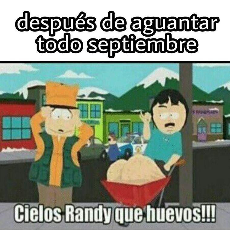 Se viene septiembre amigos - meme