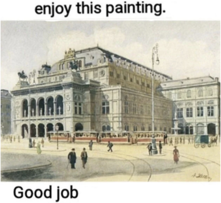 Ok you've seen the painting back to work. This isn't a meme I just wanted to show you this