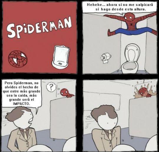 Spiderman y sus mierdas - meme