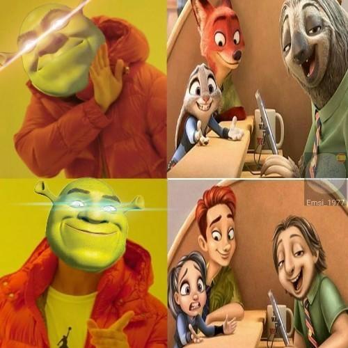 El buen shrek nos protege - meme