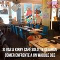 Si, esto le pertenece a Kirby de las estrellas (Facebook) y no sé si alguien ya subió esto, pero quería señalar lo kpos que son los nipones en café kirby con el Chas bandana dee