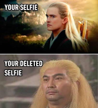 Legolas, you are better than us. - meme