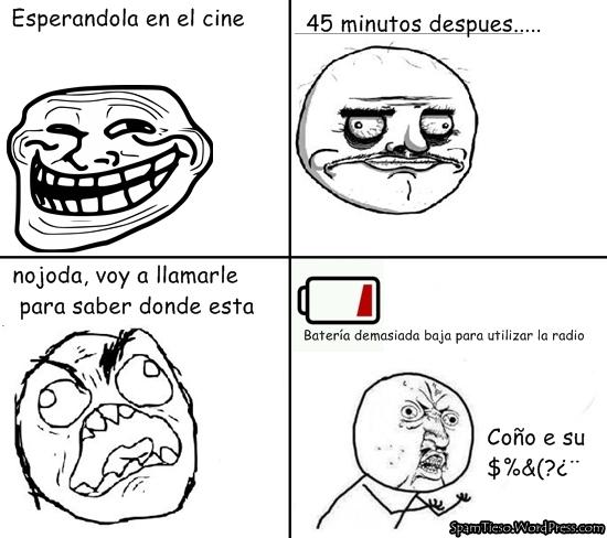 esperar en el cine alv :v - meme