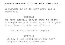 Jetpack Dracula 2: Double Drac - meme