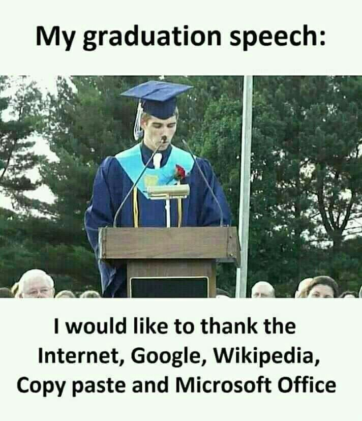 Graduating - meme