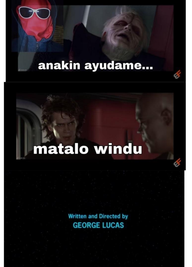 Windu es el unico jedi del lado oscuro - meme