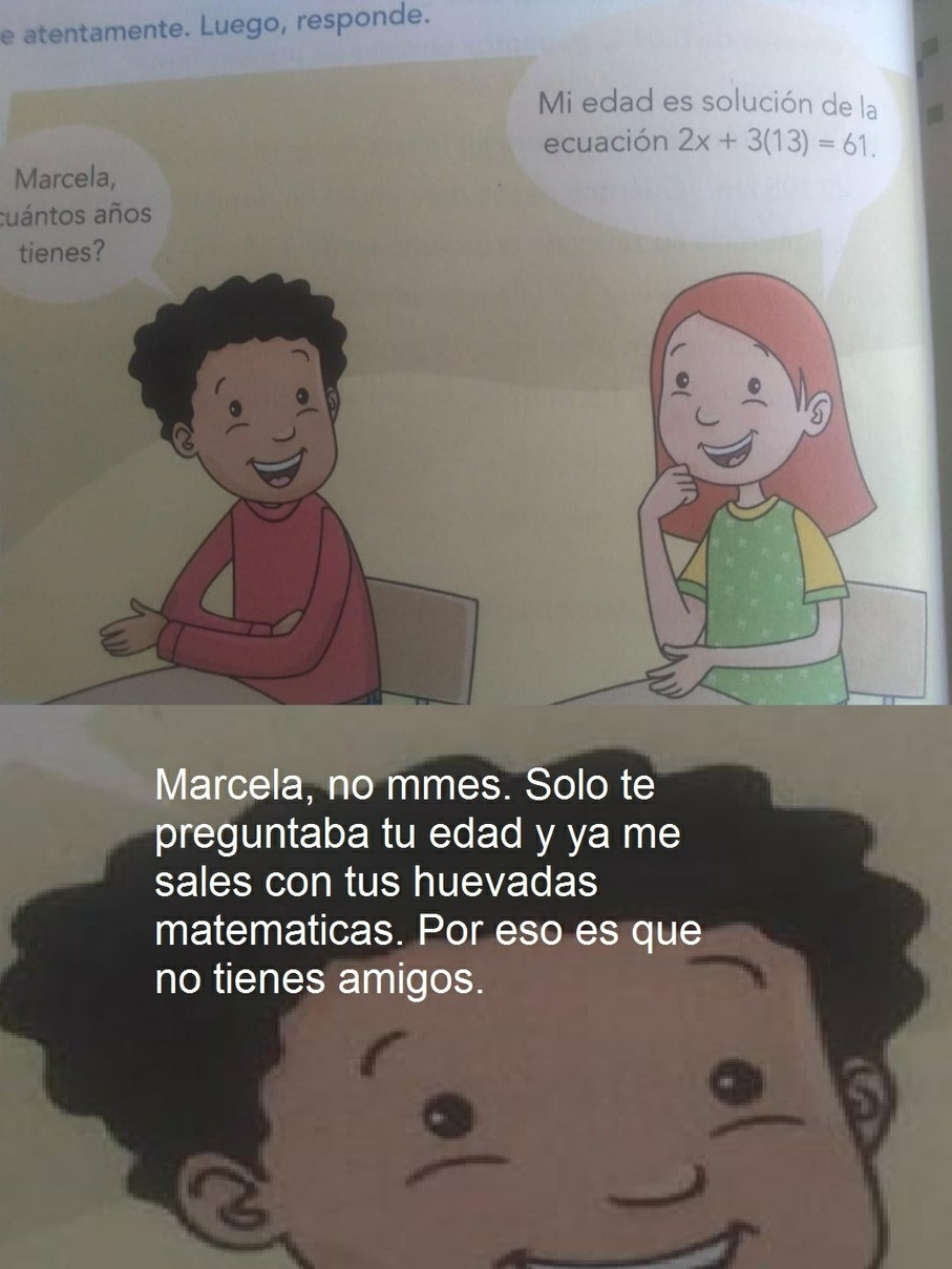 La edad de Marcela - meme