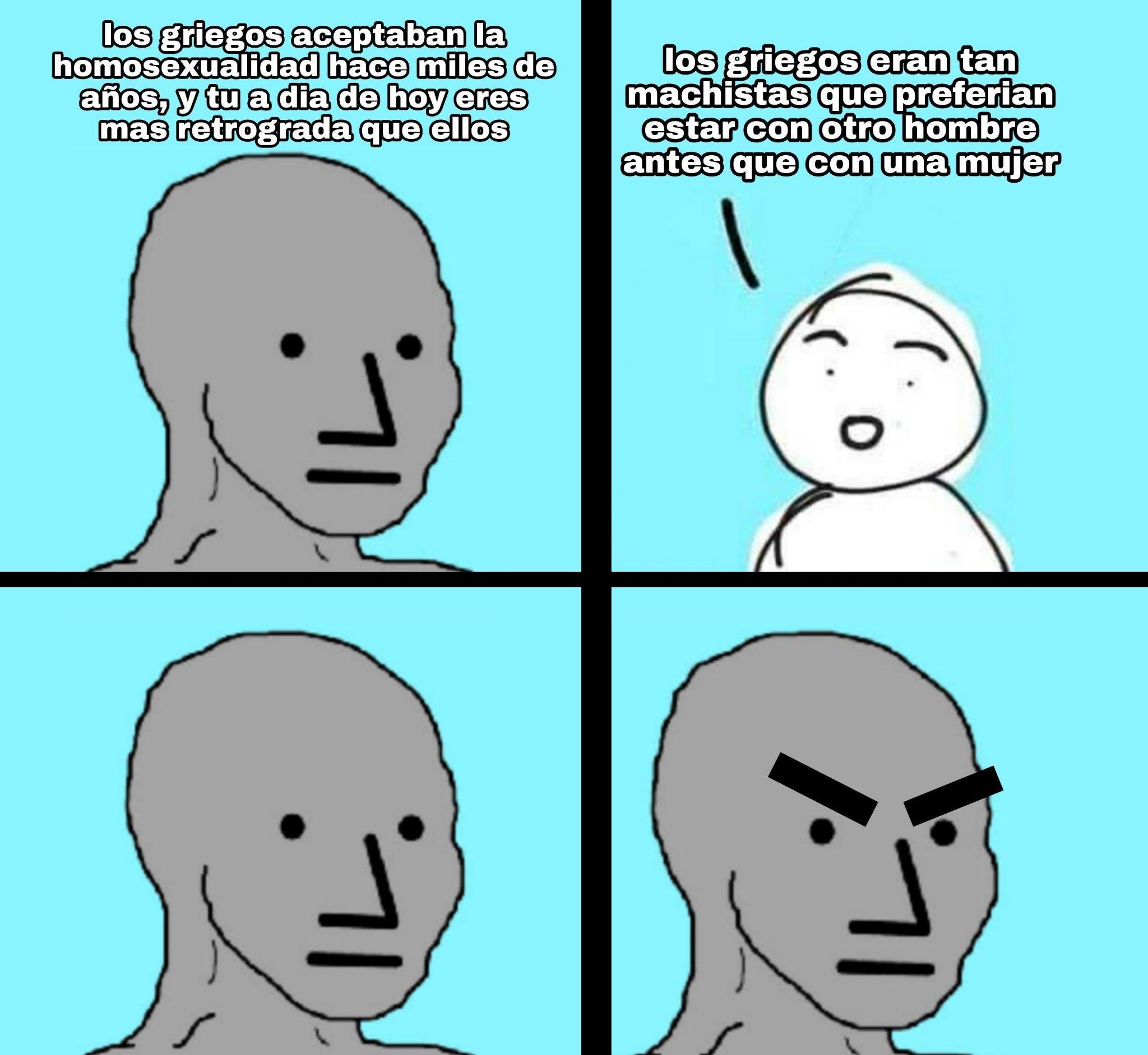 Literal las mujeres solo valian para mantener viva la raza - meme