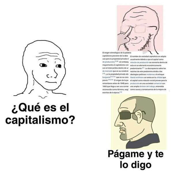 Capitalismo aplicado - meme