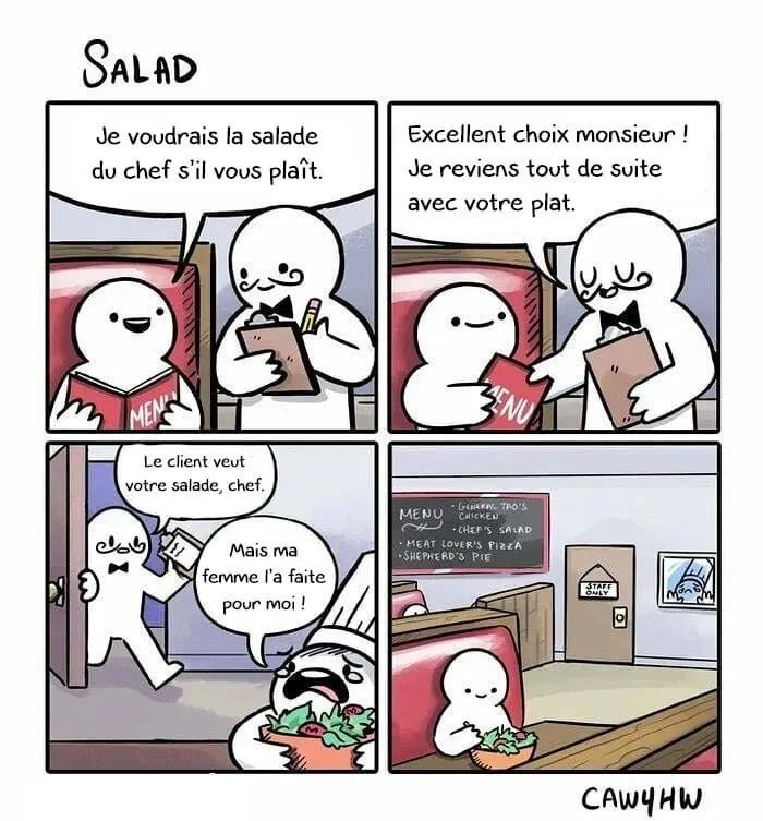 Il raconte que des salades - meme