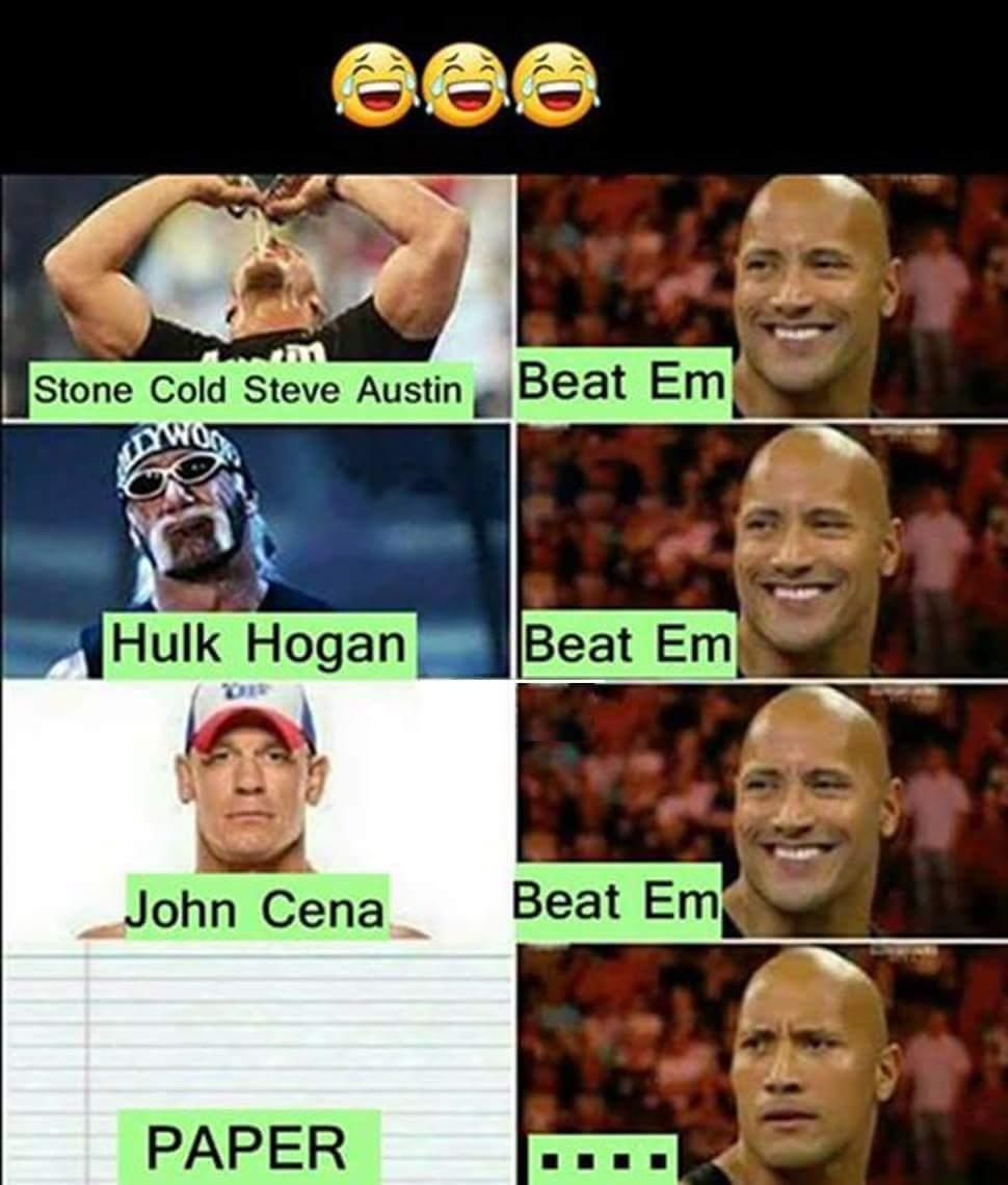 Paper beats rock  - meme