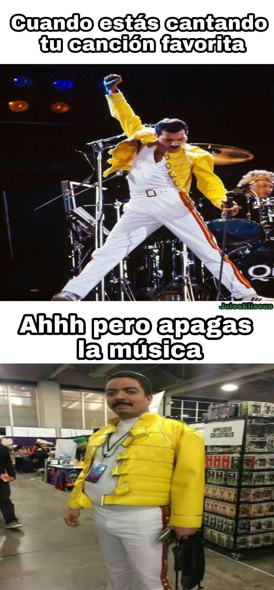 El primero es Freddie Mercury, el segundo es Alfredo Mercurio - meme