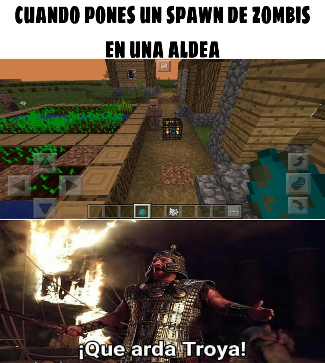 Juego el minecraft pe...soy pobre - meme