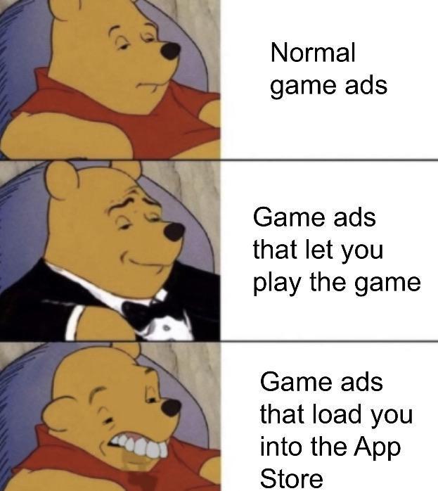 Normal game ads - meme