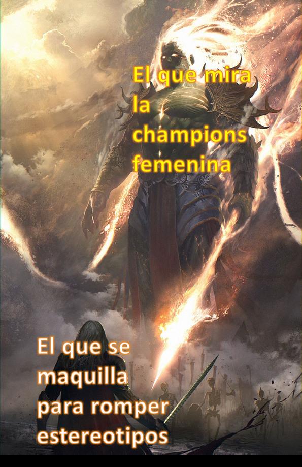 El titulo se fue a ver la champions femenina - meme