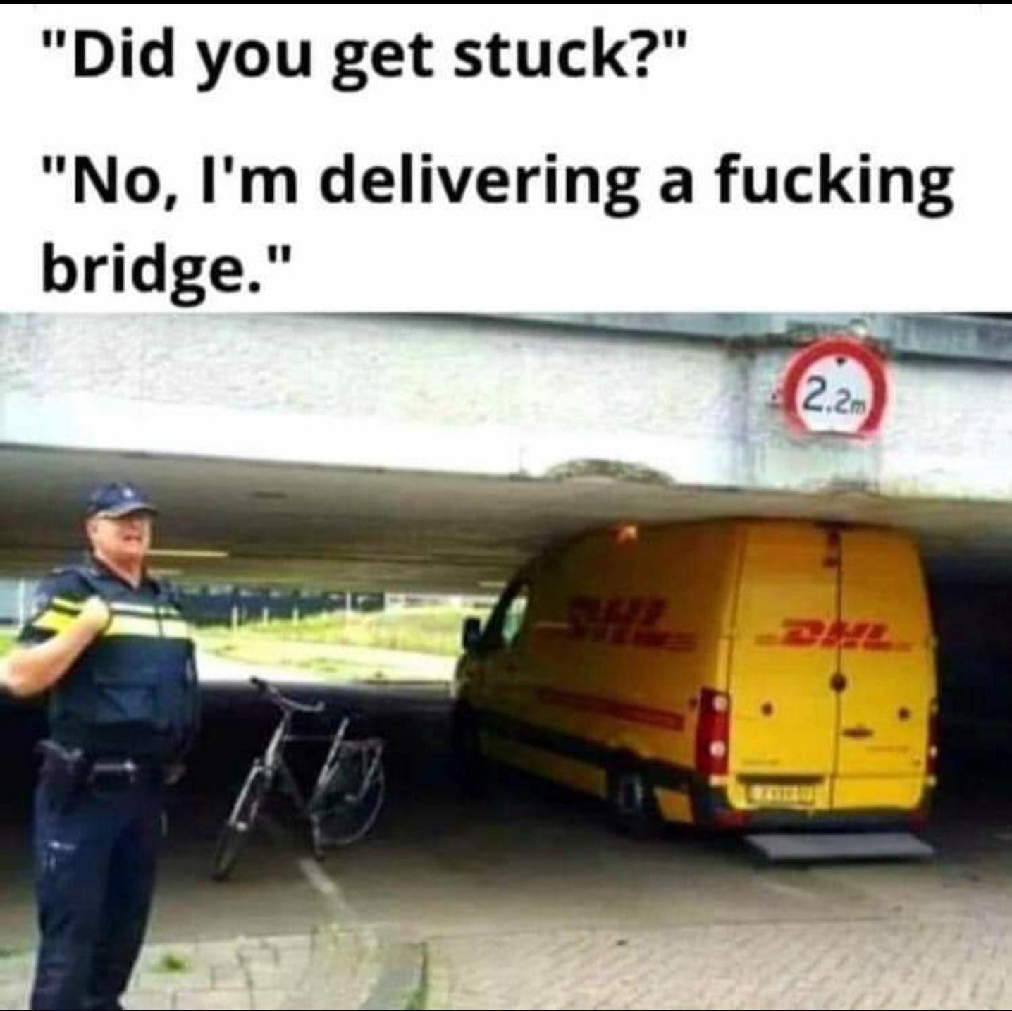 Delivering a bridge - meme