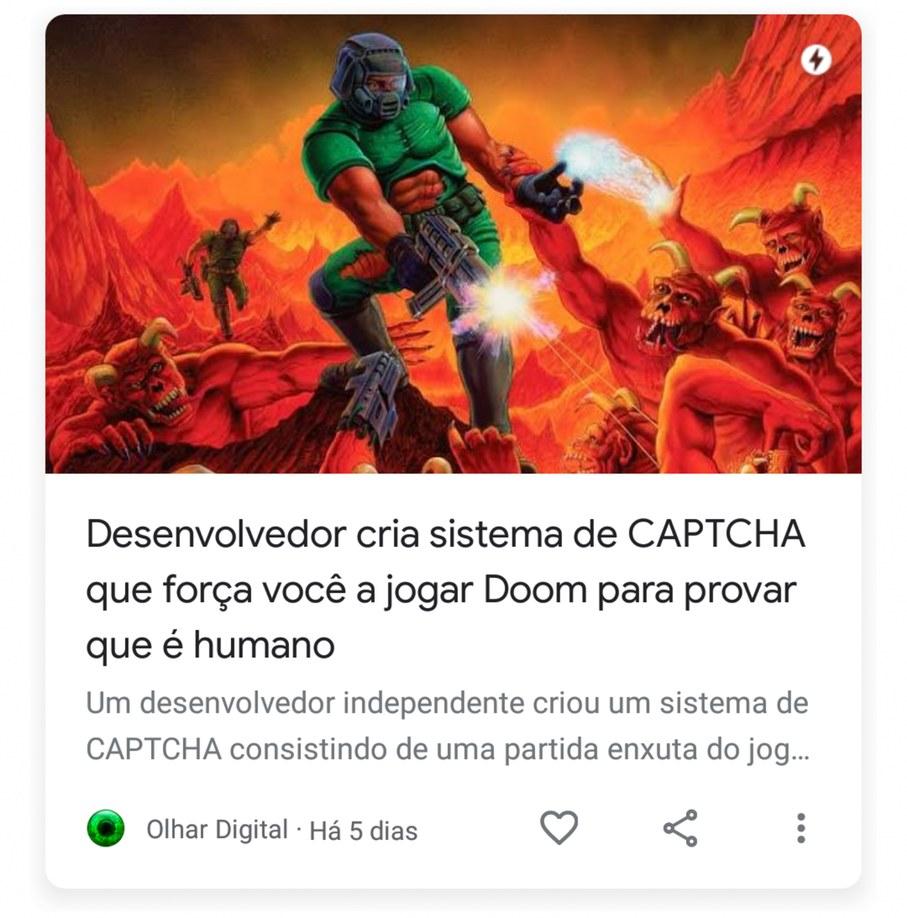 Os programadores querem que vc jogue Doom de qualquer jeito. Kkkk - meme