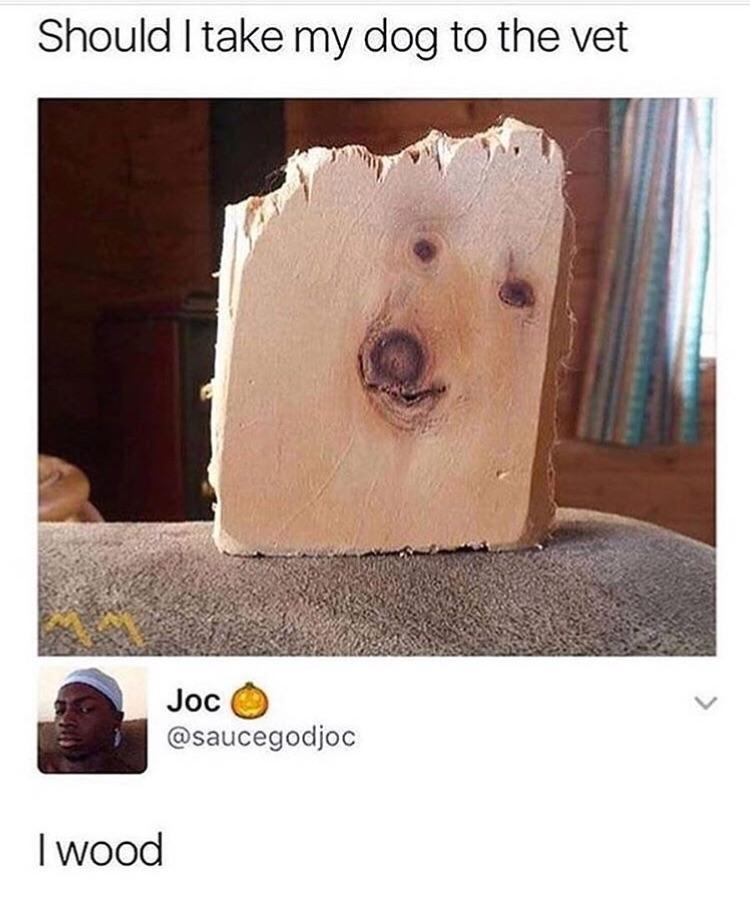 Wood dog - meme