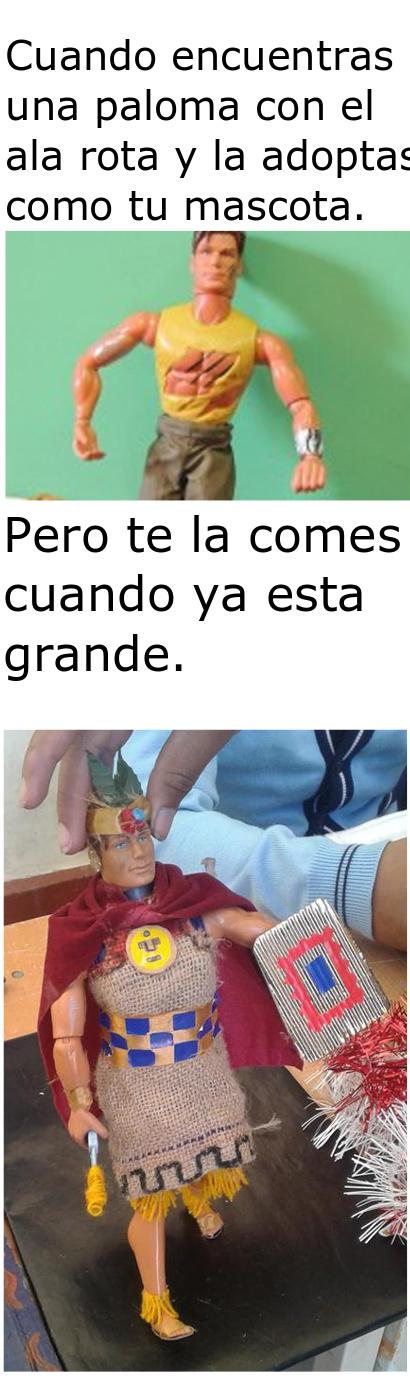 Yo soy peruano pero no como palomas - meme