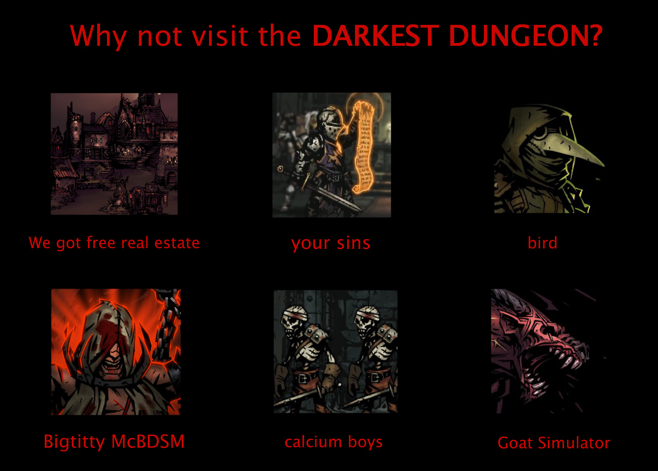 Welcome to hotel Darkest Dungeon~ - meme