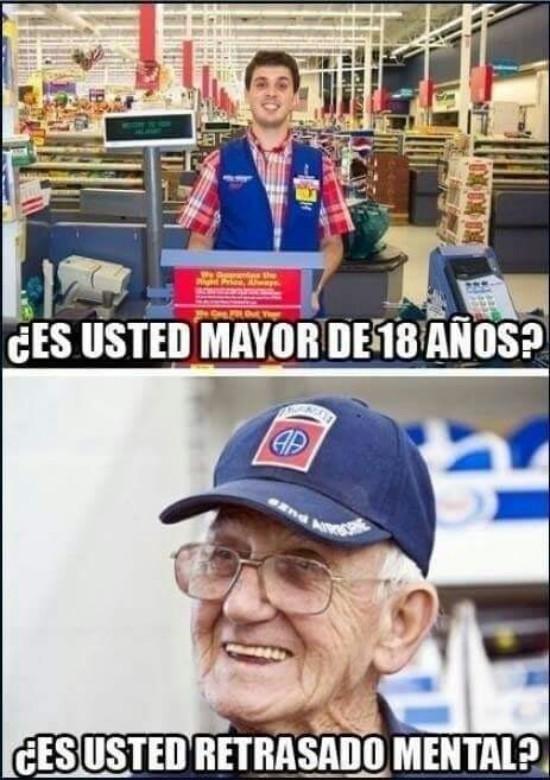 La gente mayor tiene swag - meme