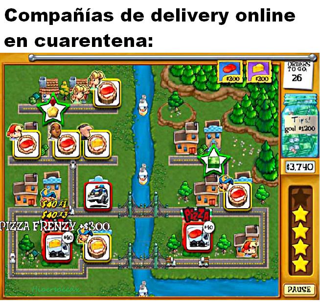 Pizzamanía: el videojuego - meme