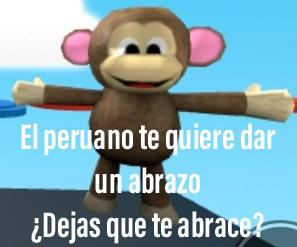 ¿Dejas que te abrace un peruano? - meme