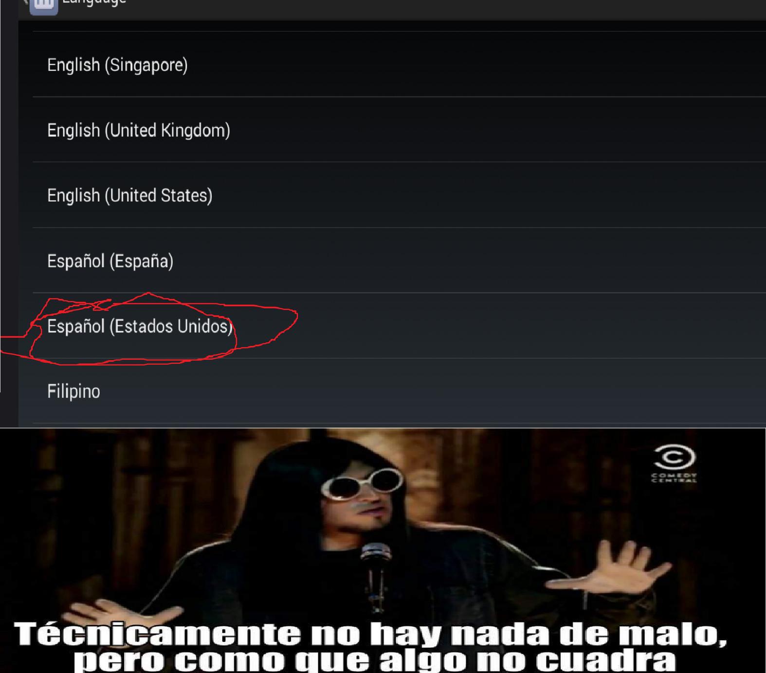 yo a very hablar speak español :v - meme