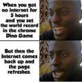 Chrome's dino game