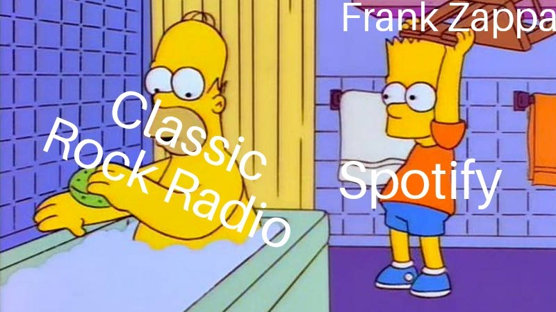 Enough with the Zappa - meme