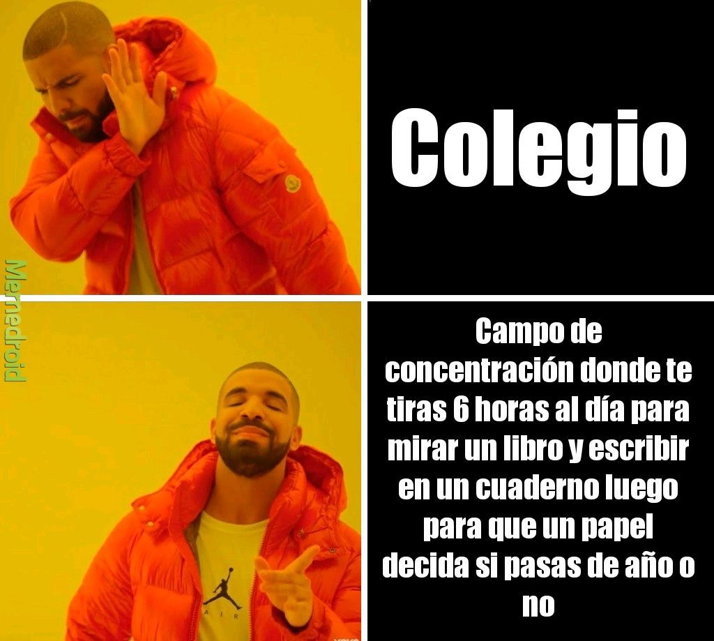 Odio la universidad - meme