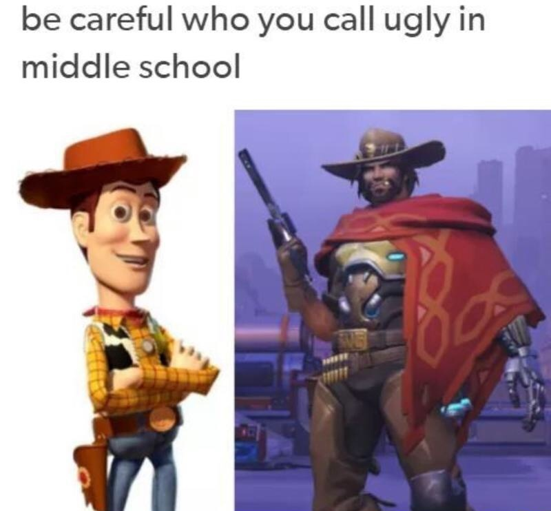 McCree is a beast - meme