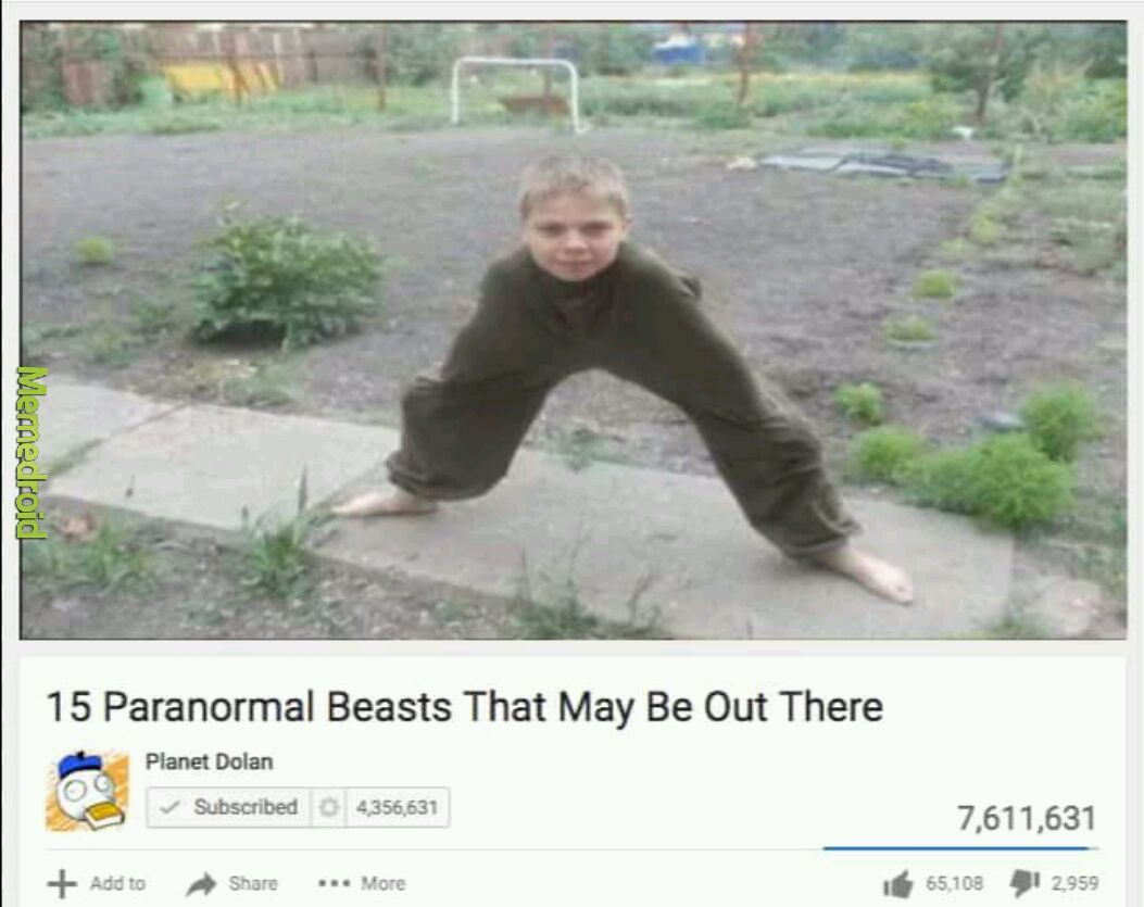 Title is a bipod - meme