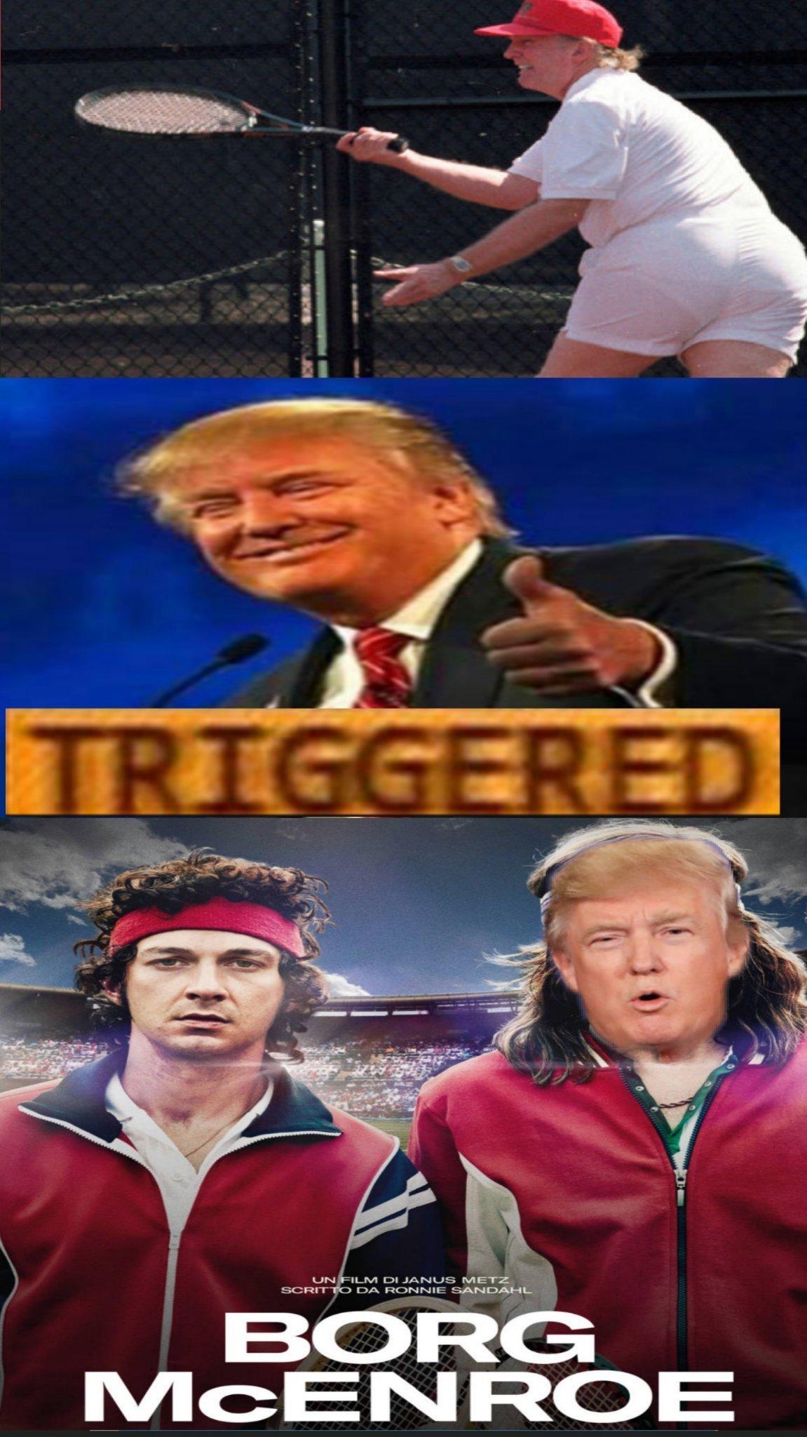 Trump vs Mcenroe - meme