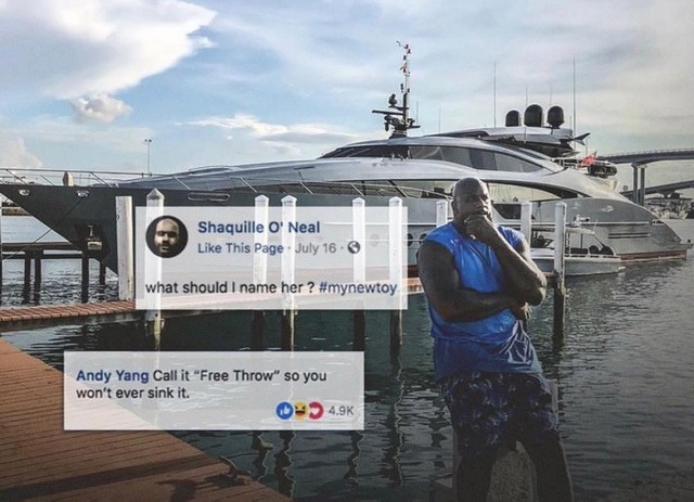 Shaquille O'neal has a new boat - meme