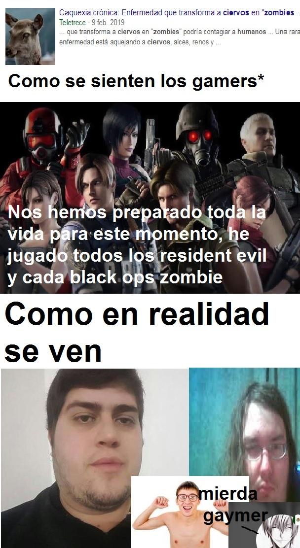 Gamers vs realidad - meme