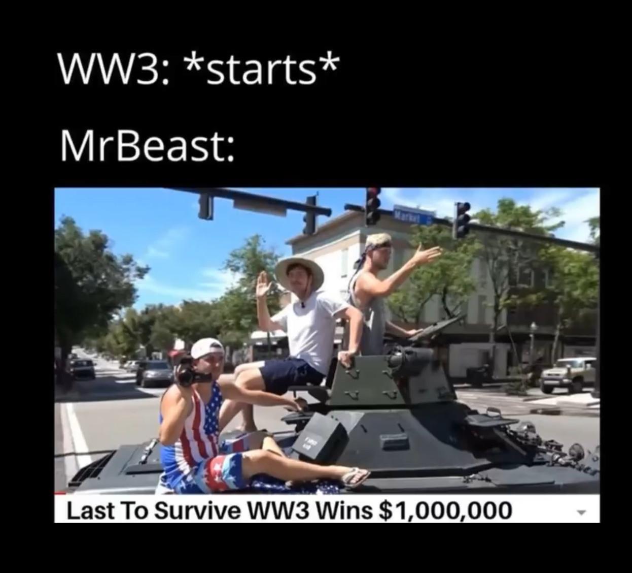 MR.Beast really wanna get drafted doe - meme