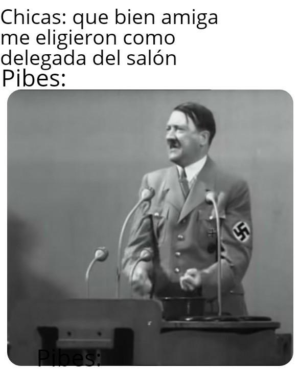Ese Hitler un loquillo - meme