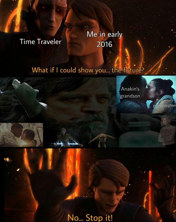 Espero q la nueva trilogía sea buena - meme
