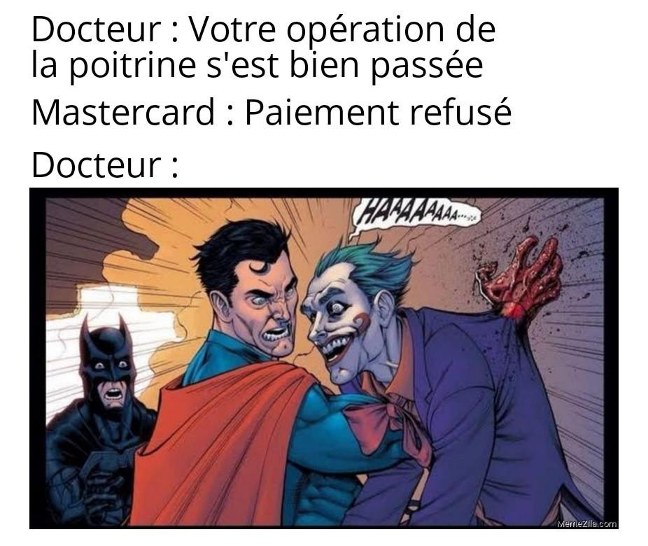 Même Batman est choqué - meme