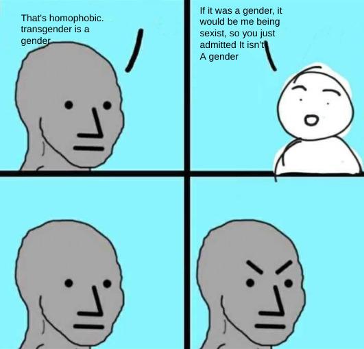 sexist Vs. homophobic - meme