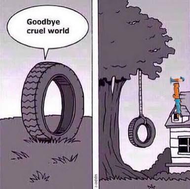 Adeus mundo cruel......... - meme
