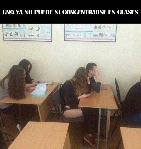 En clase - meme