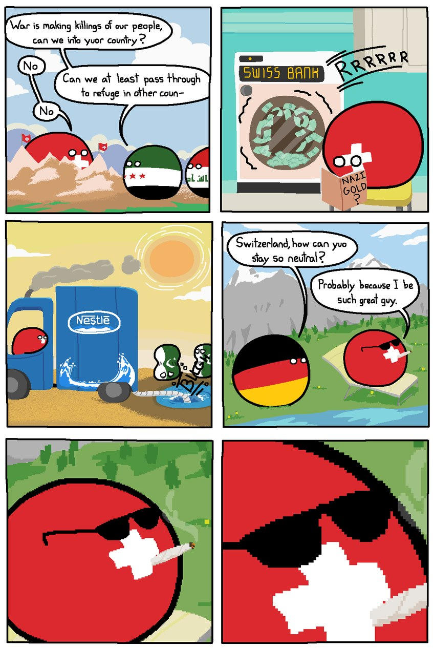 Swiss is a great guy - meme