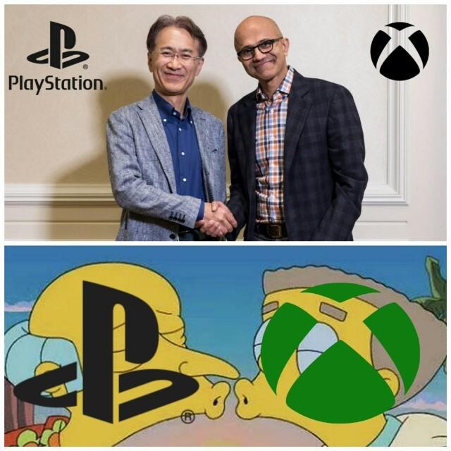 Microsoft y Sony alianza - meme
