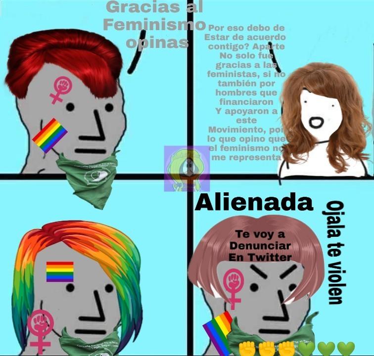Femipendejas, perdonen el recorte mula que hice :happy: - meme