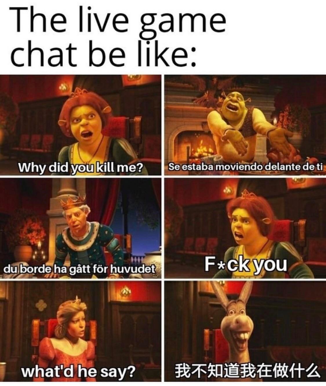 I miss game chat - meme