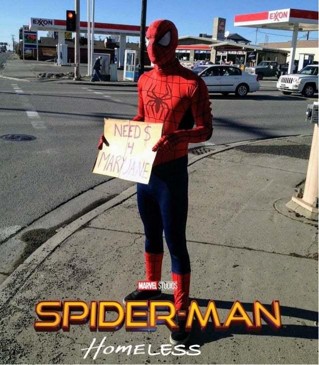 Spider-Man Homeless - meme