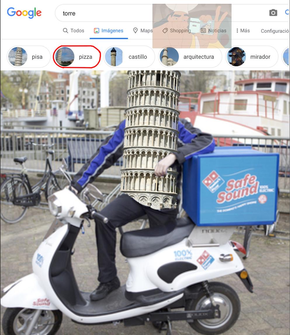 Torre de pizza - meme