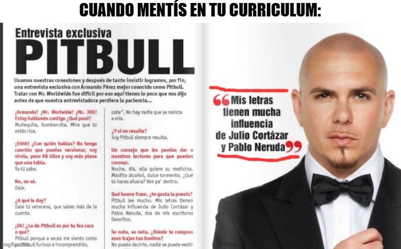 pitbull=neruda - meme